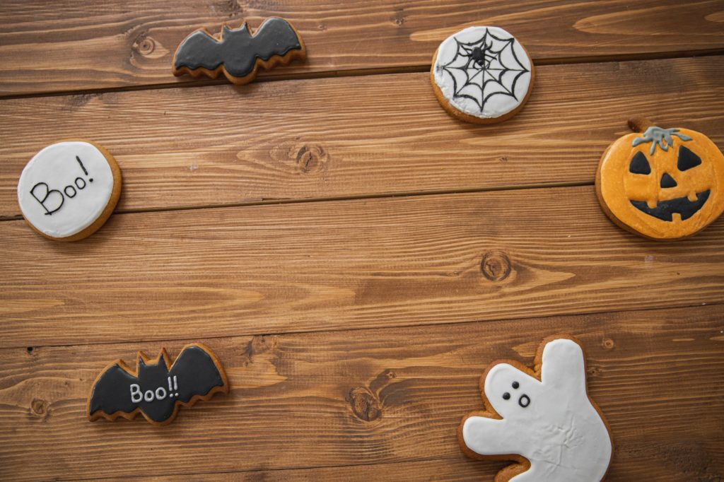 An example of Spooky Halloween cookies you can bake on Halloween