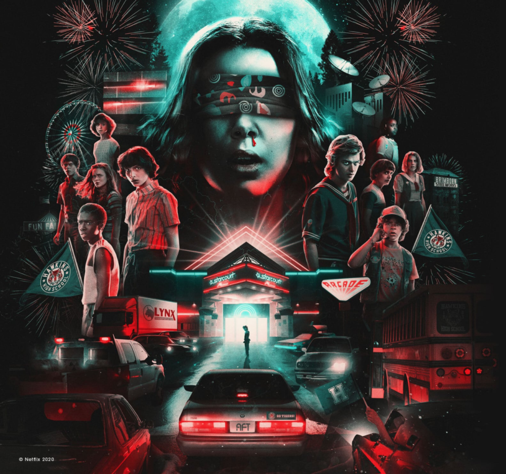The Stranger Things series poster.