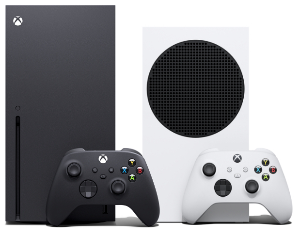 The Xbox Series X and Series S.