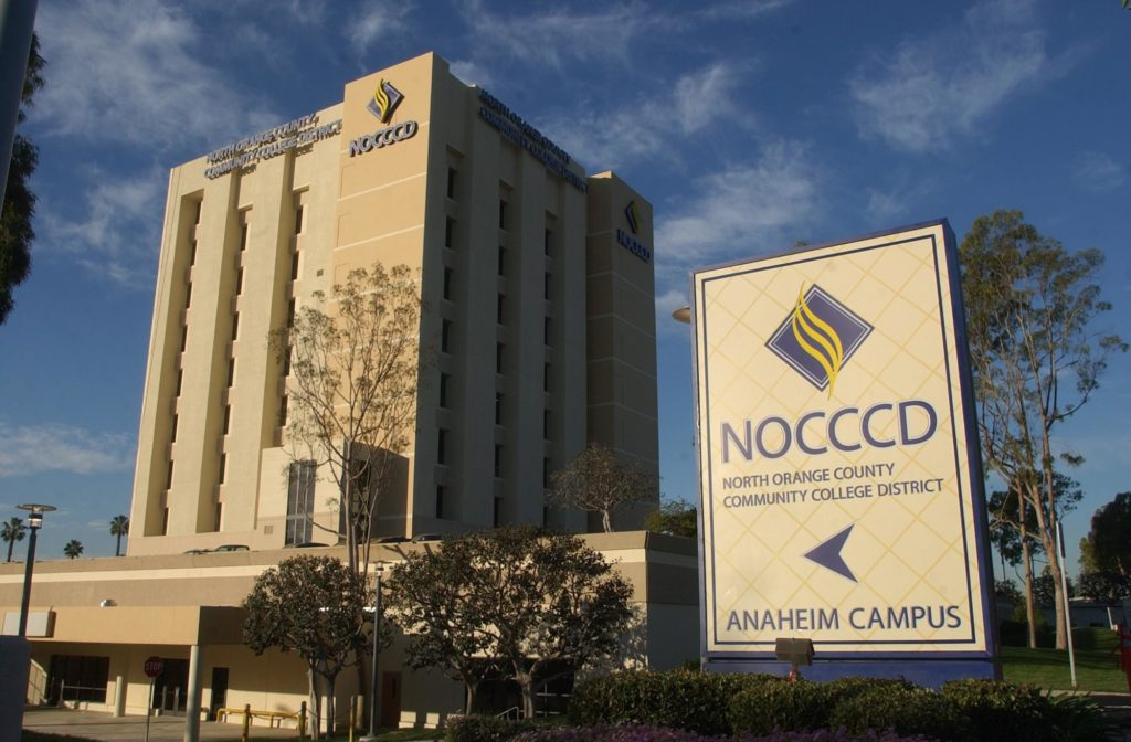 The NOCCCD Board of Trustees normally meets at the NOCCCD Anaheim Campus.
