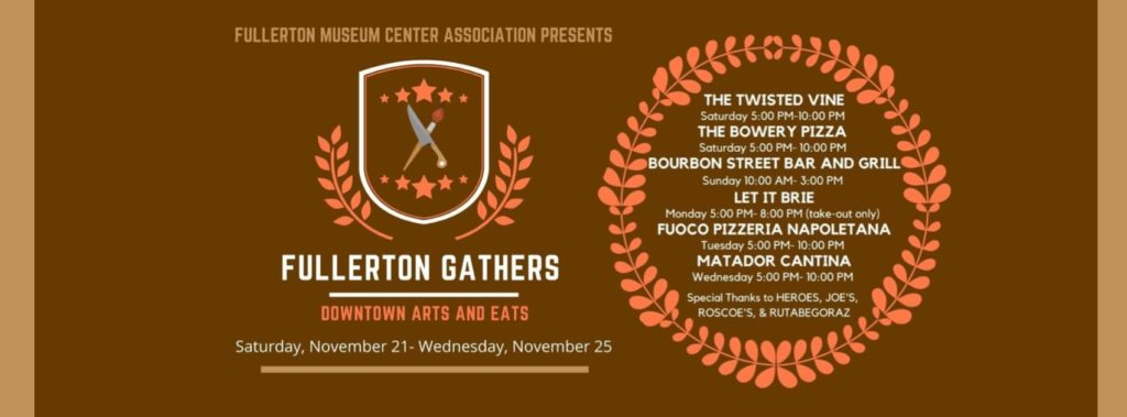 The fundraiser event will run from Nov. 21 through Nov. 25, featuring a different Downtown Fullerton eatery each day.