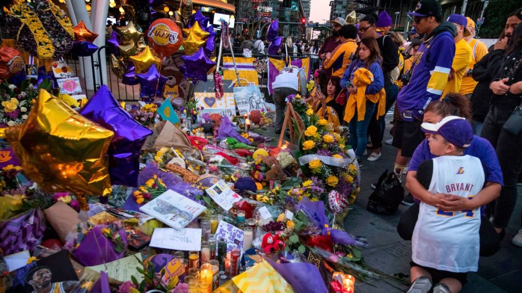 After Kobe Bryant's death, fans headed to the Staples Center to pay him tribute.