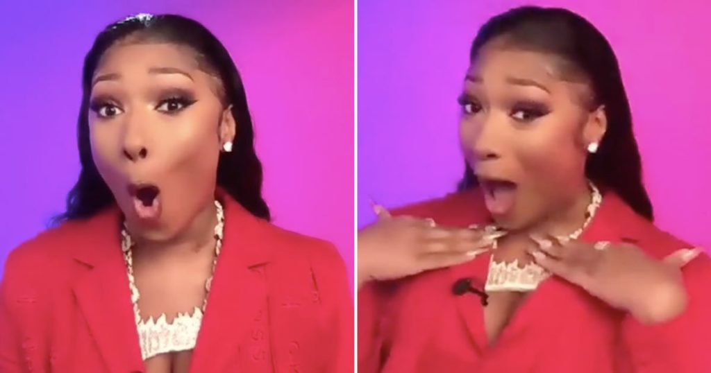 Megan Thee Stallion shocked and excited to learn she is nominated for the 2021 Grammys.