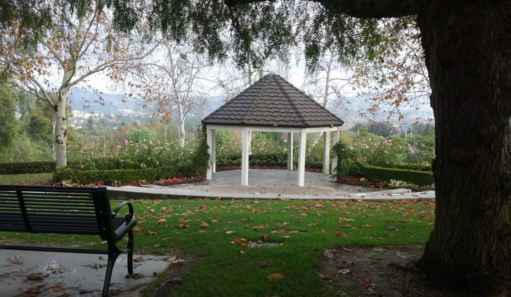 Vista Park has a gazebo and seating area with a great view.
