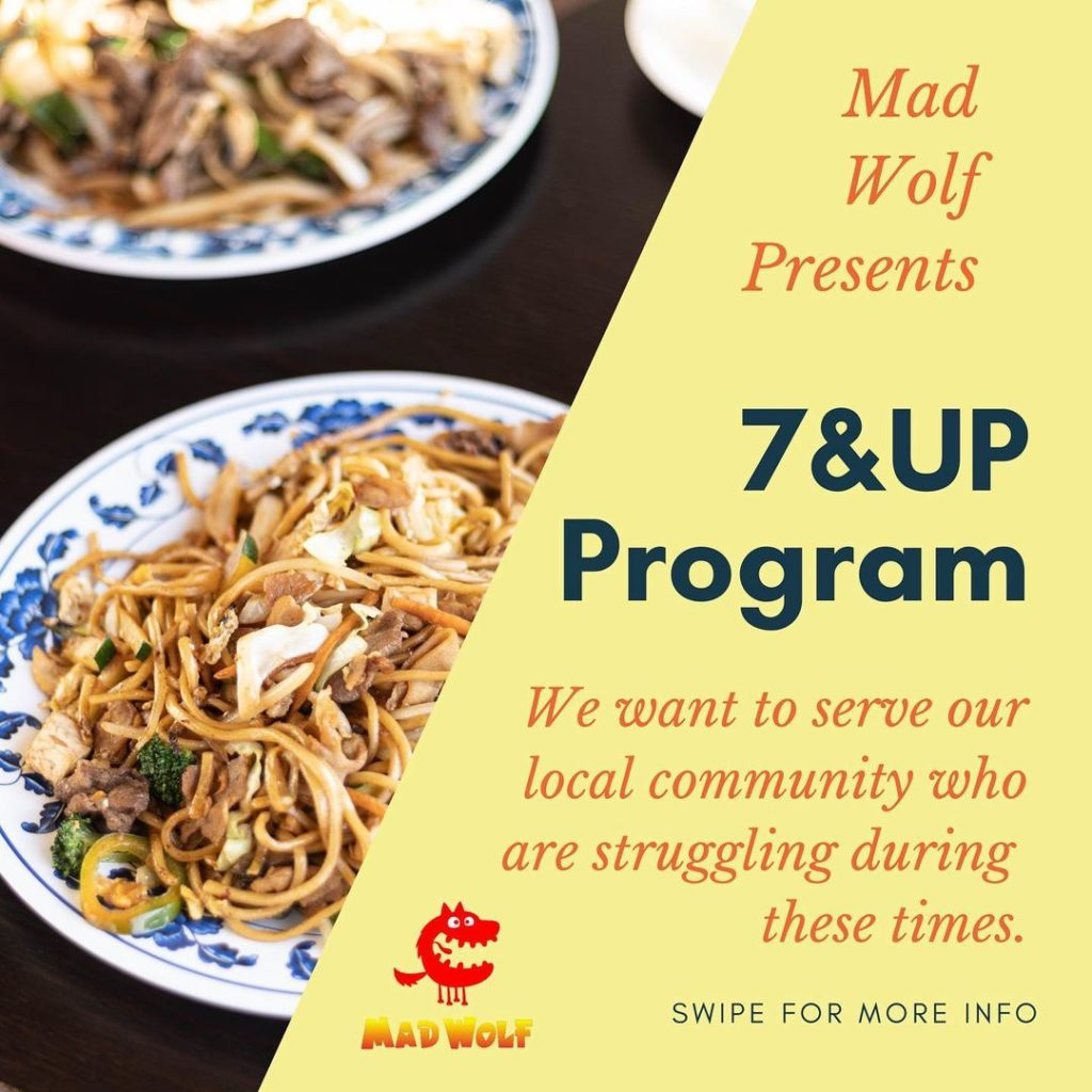 Mad Wolf's flyer about the 7&UP Program.