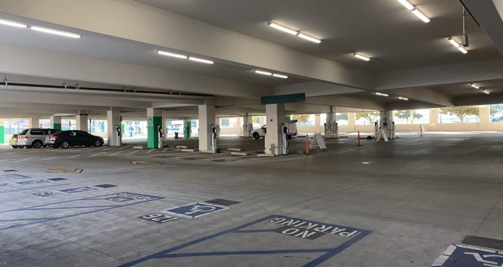 Northwest parking lot on December 11th; this area would normally be filled with cars coming and going.