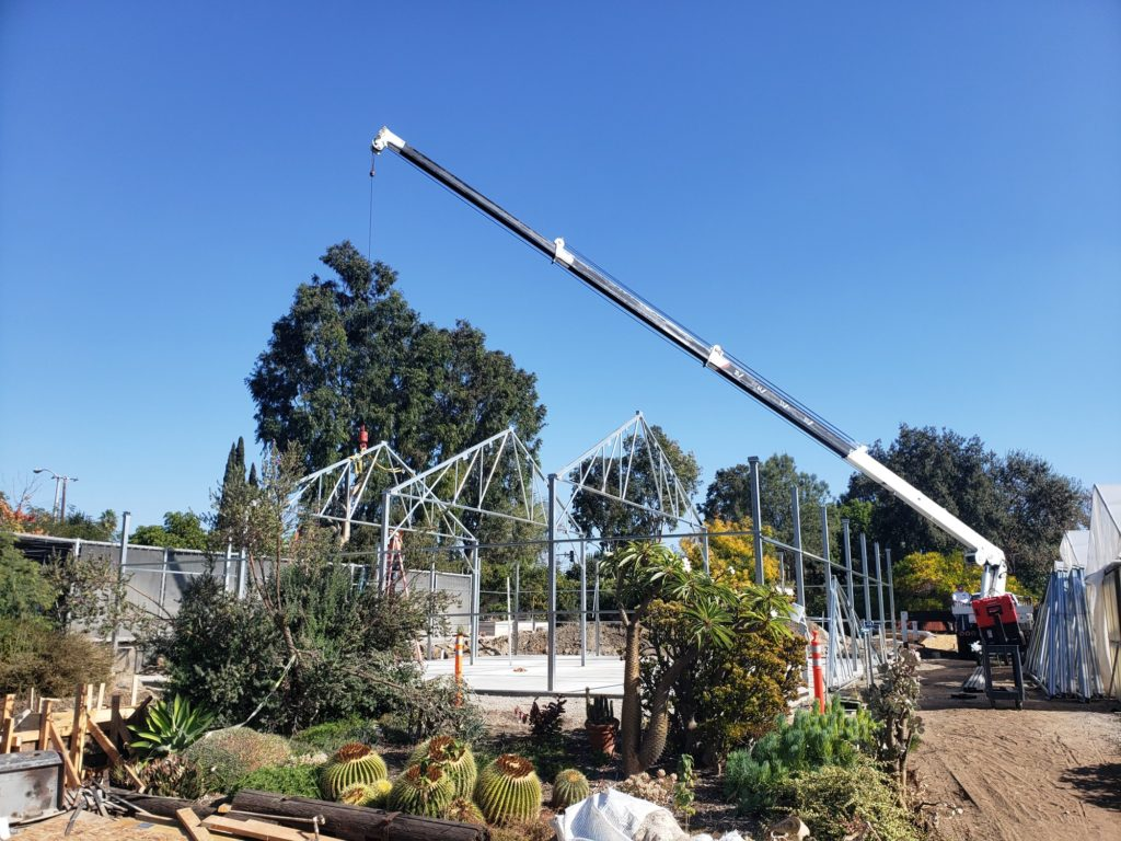 Construction for new greenhouse at Fullerton College