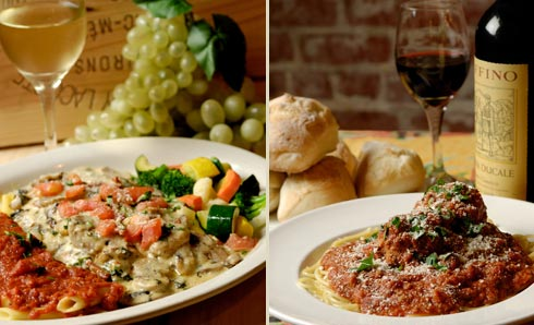 Authentic Italian cuisine is Angelo's and Vinci's specialty.