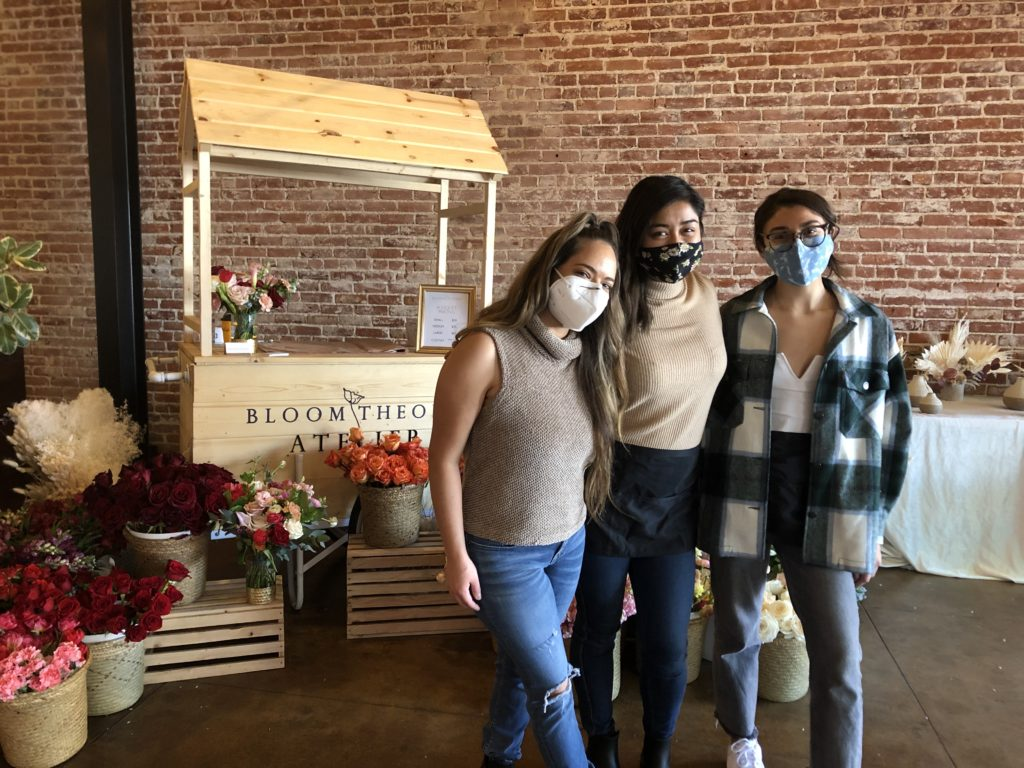 Bloom Theory was founded in 2018 by Charm Tuazon-Walker (center) and is run by herself and her team consisting of Bea (left) and Marissa (right).