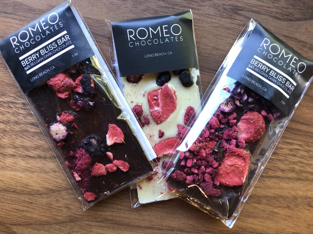 The Berry Bliss Bar by Chef Romeo of Romeo Chocolates was among the many treats that were available for purchase at the pop-up.