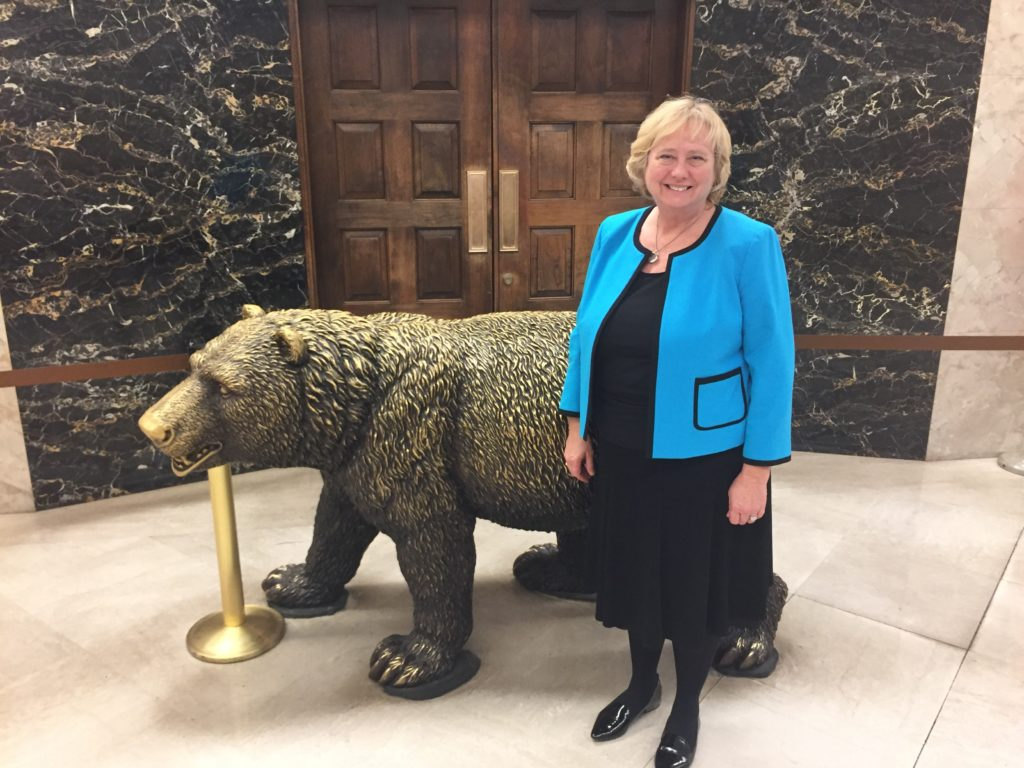 NOCCCD Chancellor Marshall at the State Capitol for a legislative advocacy visit.