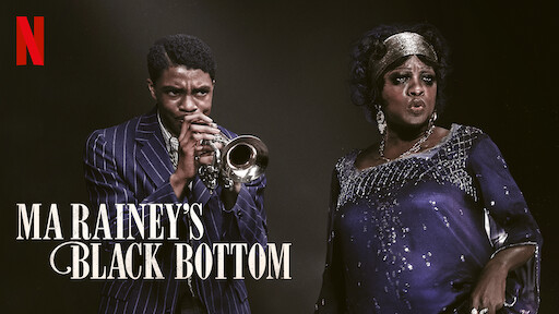 Netflix's official film logo for Ma Rainey's Black Bottom starring Viola Davis and the late Chadwick Boseman.