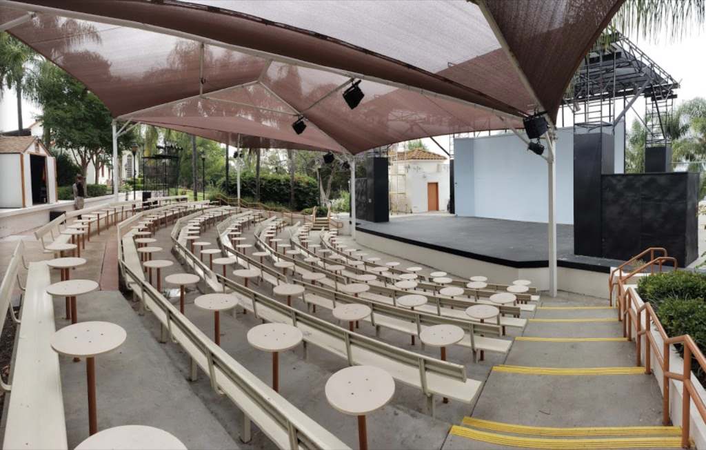 The Muckenthaler's outdoor amphitheater where concerts would normally be held prior to COVID-19.