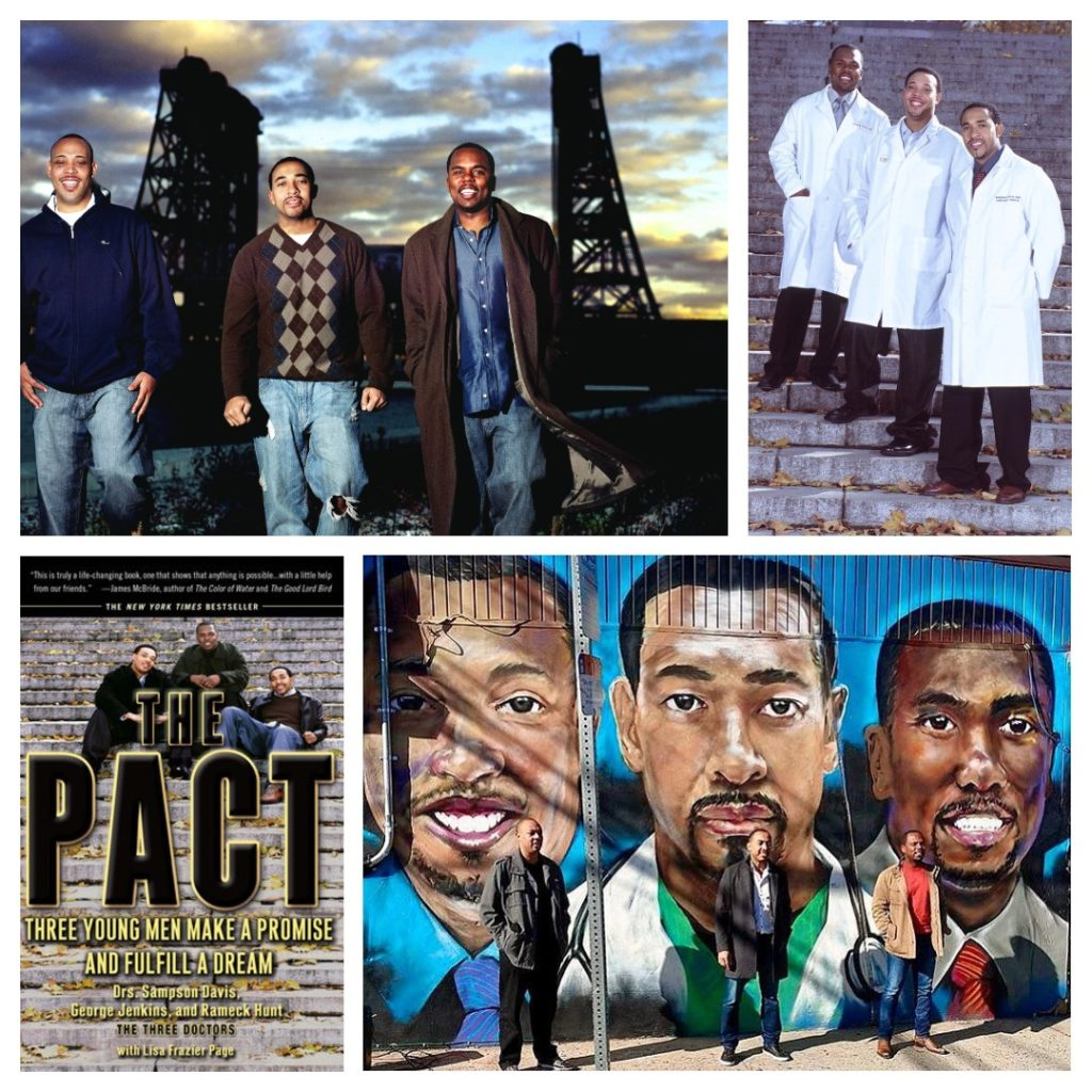 The Pact: Three Young Men Make a Promise and Fulfill a Dream written by Drs. Sampson Davis, George Jenkins, and Rameck Hunt