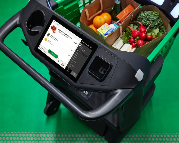 The new Amazon Fresh Store Dash carts are supposed to be easy to use.