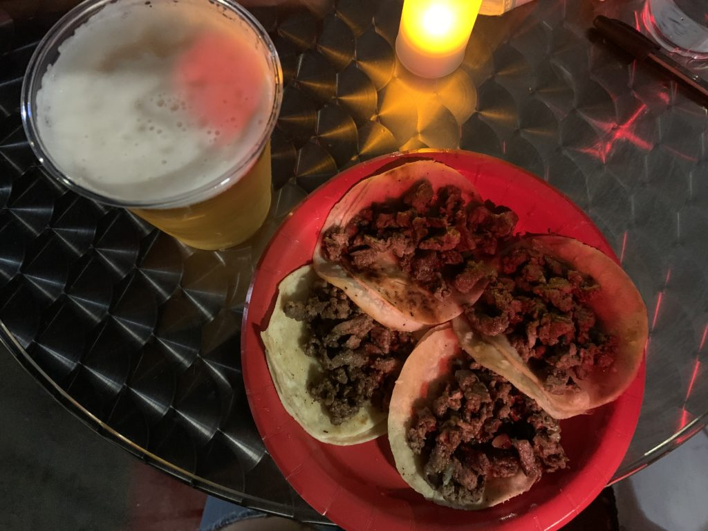 Porto Osito fresh brew and Borracho Tacos.