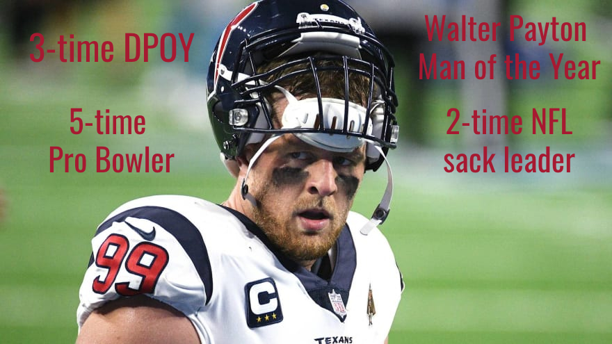 Throughout his 10 years with the Texans, JJ Watt accomplished almost everything you could imagine for a defensive end.