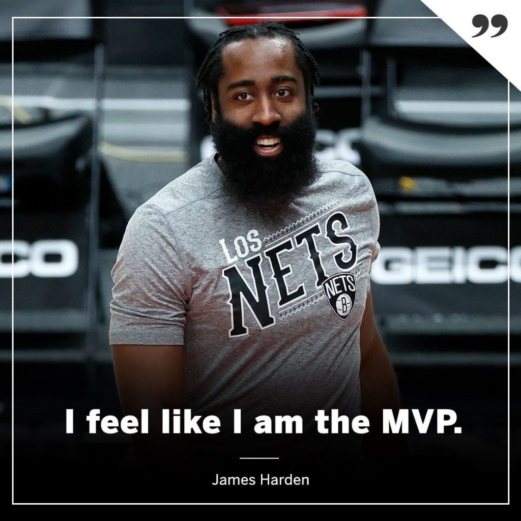 James Harden may be on his way to another regular-season MVP title after carrying the Nets with KD and Kyrie out.