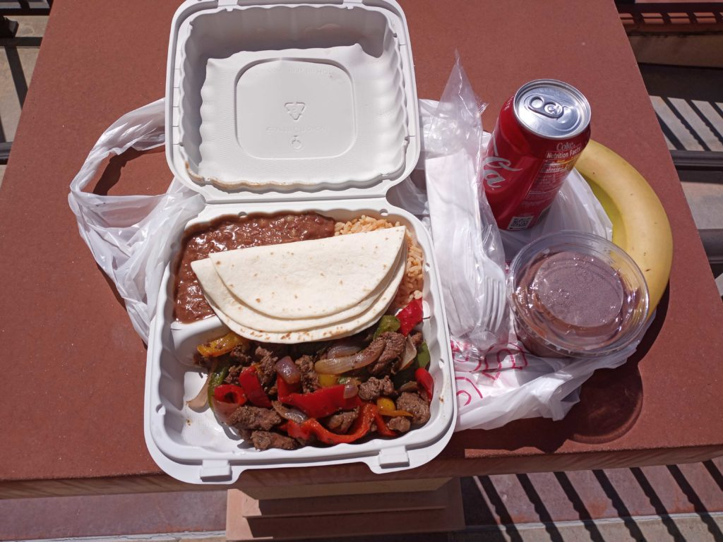 Grab-and-Go taco lunch served on Mar. 26 at Fullerton College.
