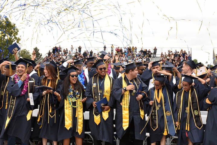 Fullerton College host commencement ceremonies every year at the end of the spring term.