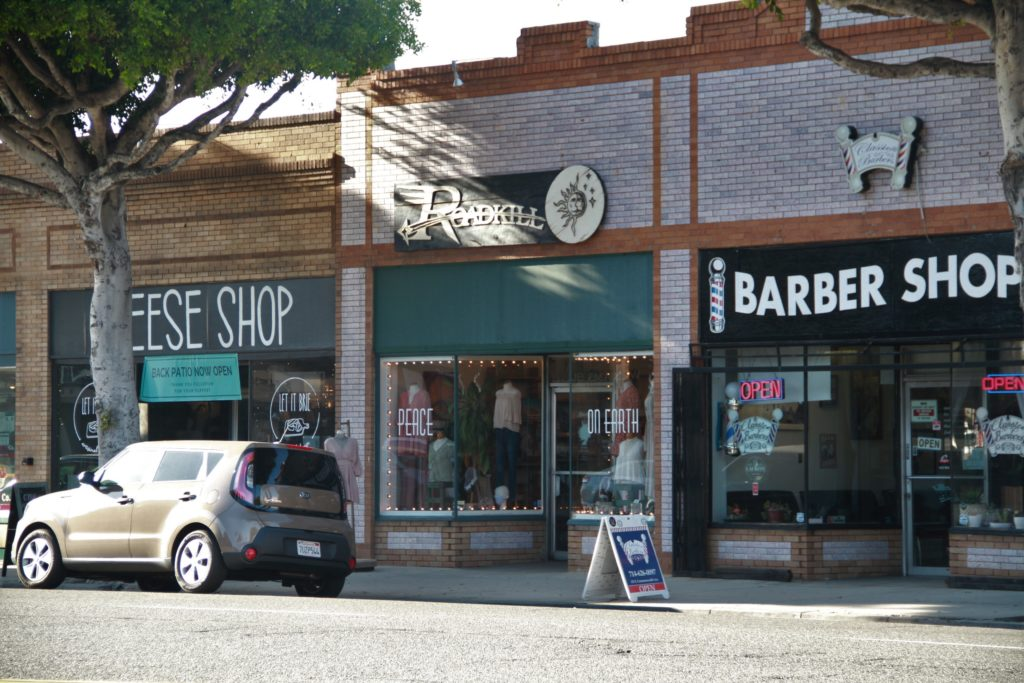 Street view of Roadkill Ranch and Boutique off Wilshire Avenue.