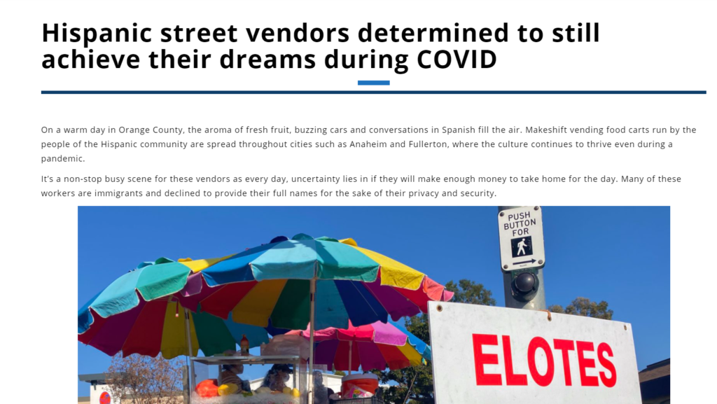 The Hornet's award-winning story on the life of food vendors in the cities of Orange County.