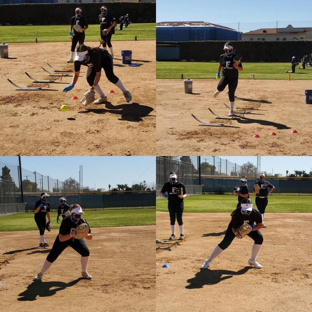 The Lady Hornets hit the field on their first day back on campus and worked on agility and fielding drills.