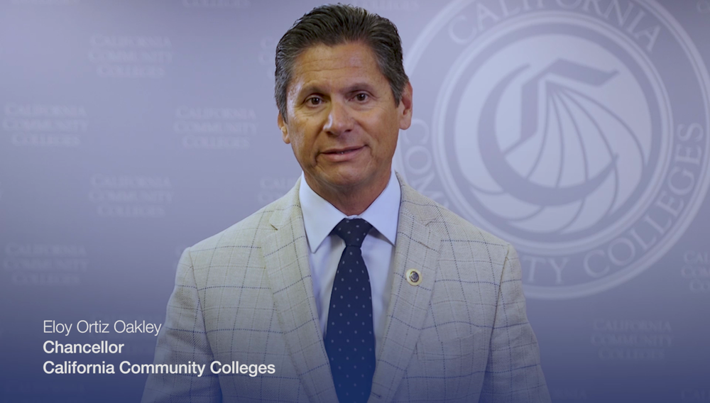 Chancellor Eloy Ortiz Oakley holds quarterly teleconference meetings with students from the many California Community Colleges.