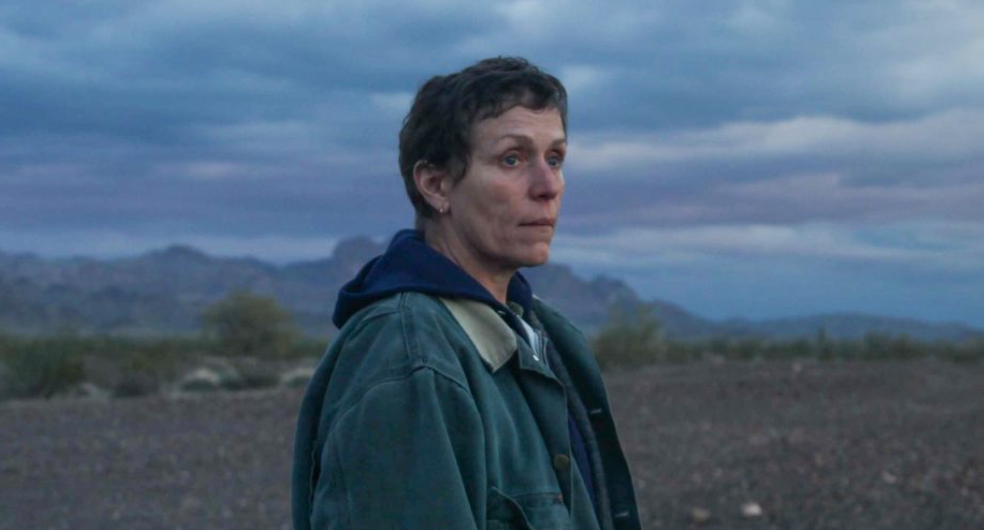 Frances McDormand plays Fern in Nomadland, a film by Chloé Zhao. The film was released in the United States on Feb. 19, 2021.