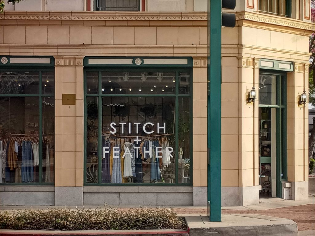 Stitch and Feather opened in Downtown Fullerton amid the pandemic.