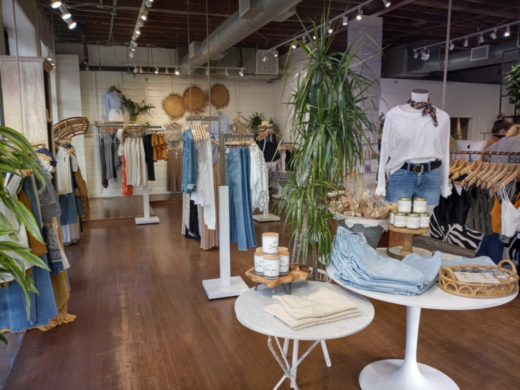 Stitch and Feather offer mostly women's clothing and accessories.