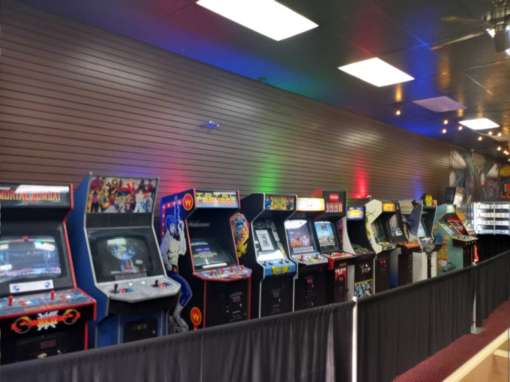 The arcade area in Lost Levels.