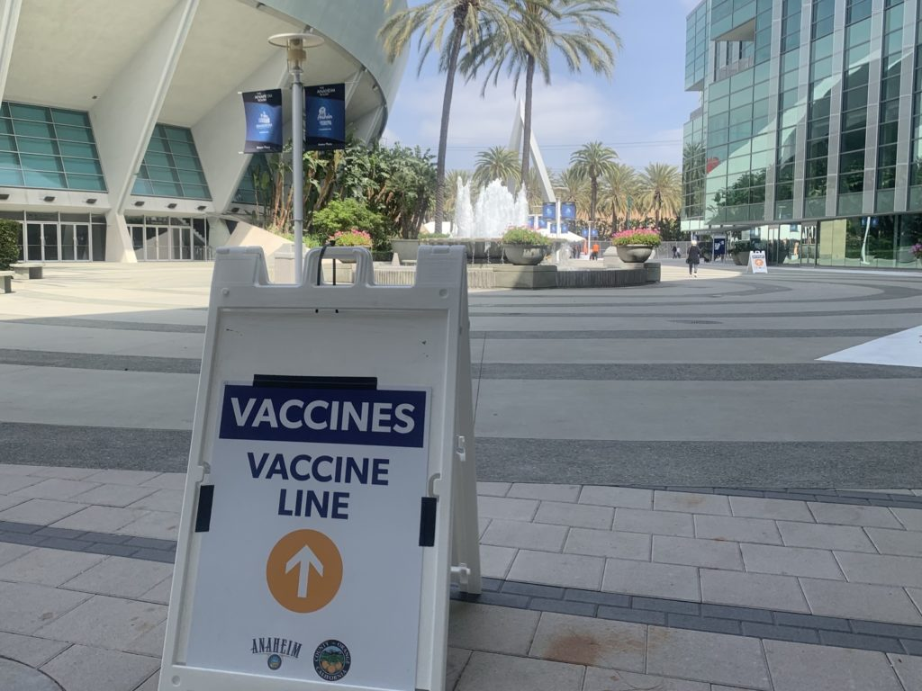 The Anaheim Convention Center is one of the vaccine super PODs that Orange County has open to the public.