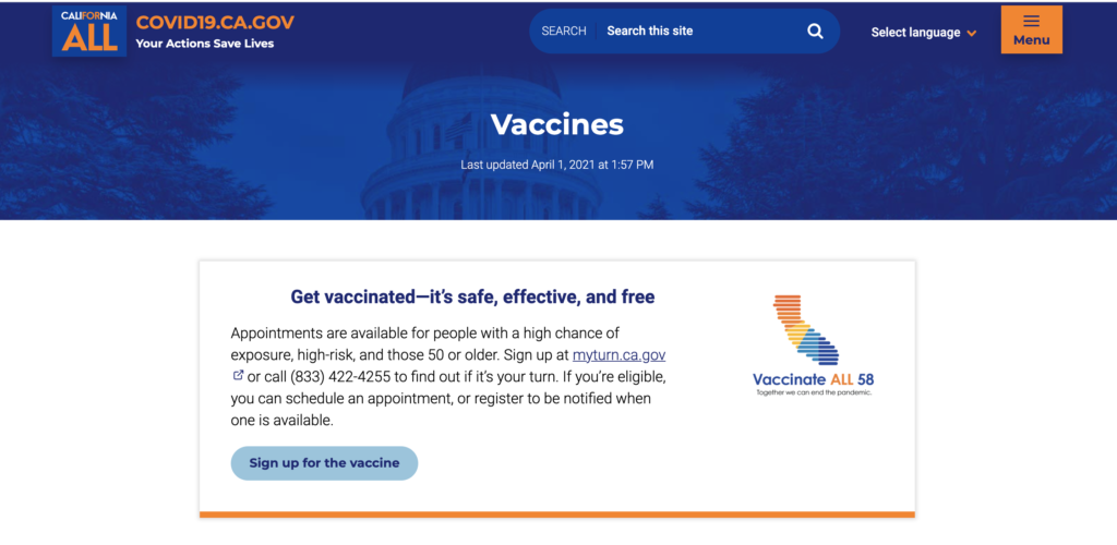 Official California Government COVID-19 Website