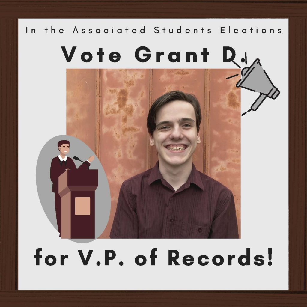 VP of Records candidate Grant DeVries.