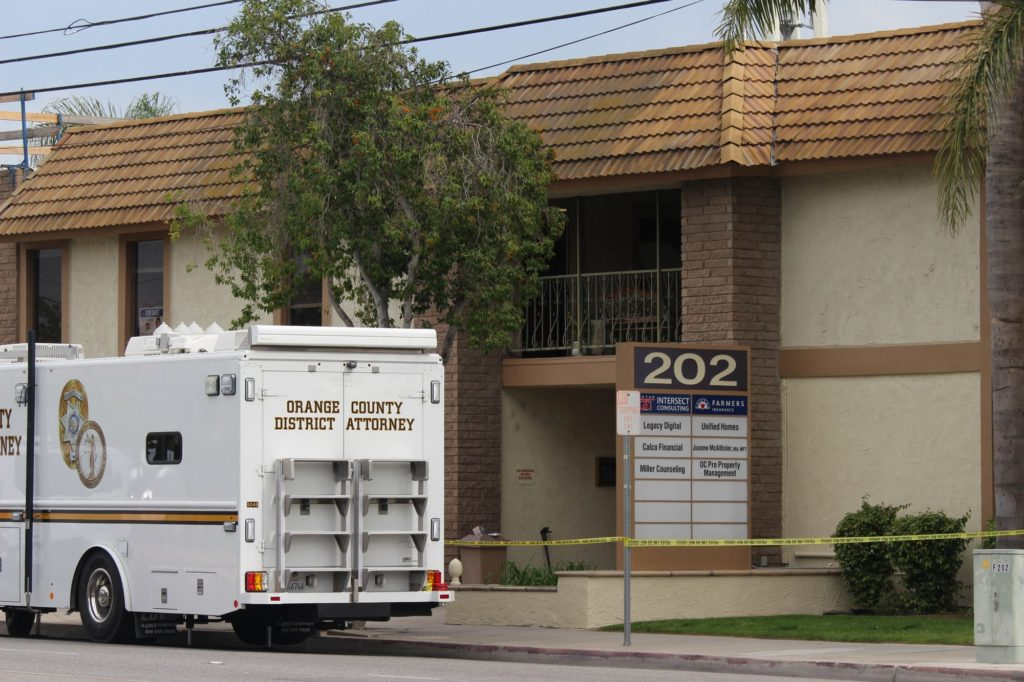 The Orange County District Attorney's office is still investigating the quadruple murder of the mass shooting in Orange and the suspect's background.