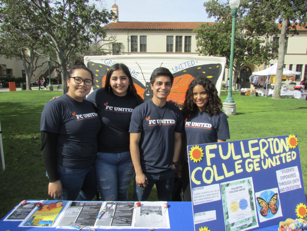 Event supporting undocumented students, hosted by Grads To Be and Fullerton College United.