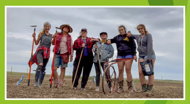 Winona LaDuke and her community farms to reduce the amount of petroleum and fossil fuels in their food in Round Lake, Minnesota.