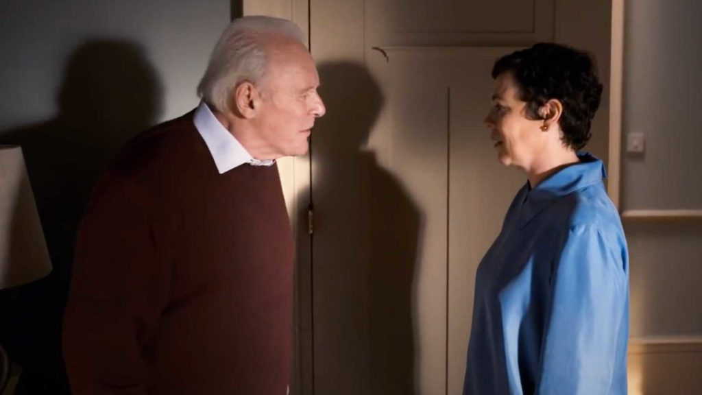 Anthony Hopkins and Olivia Colman star in The Father, a film by Florian Zeller. The film was released in the United Staes on Feb. 26, 2021.