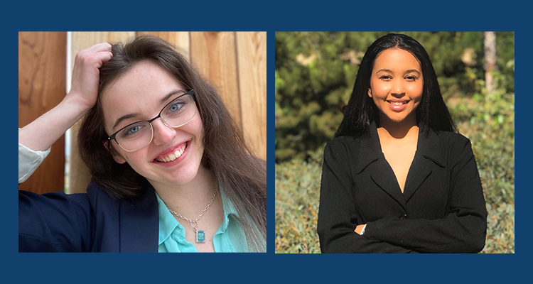 Kennedy DeVries and Shatha Fadul are running for Vice President of Student Senate.