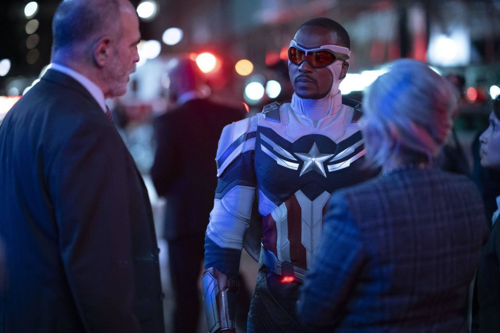 Falcon/Sam Wilson (Anthony Mackie) in Marvel Studios' THE FALCON AND THE WINTER SOLDIER exclusively on Disney+. Photo by Eli Adé. ©Marvel Studios 2021. All Rights Reserved.