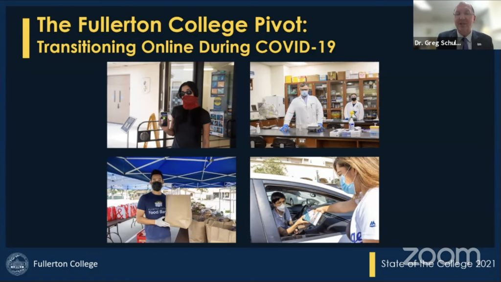 A few classes were approved to return to in-person instruction this semester, primarily classes in the Career and Technical Education program as they aren't as easily adaptable to a virtual format.