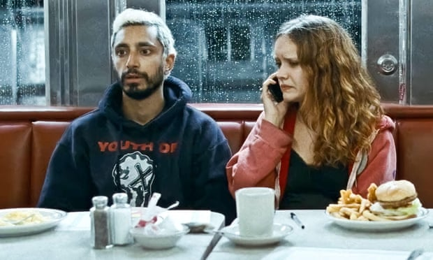 Riz Ahmed (left) and Olivia Cooke (right) star in The Sound of Metal, directed by Darius Marder.