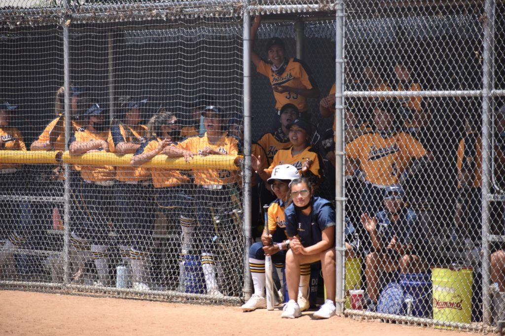 The Hornets dugout maintained an electric atmosphere all day, supporting each and every batter.