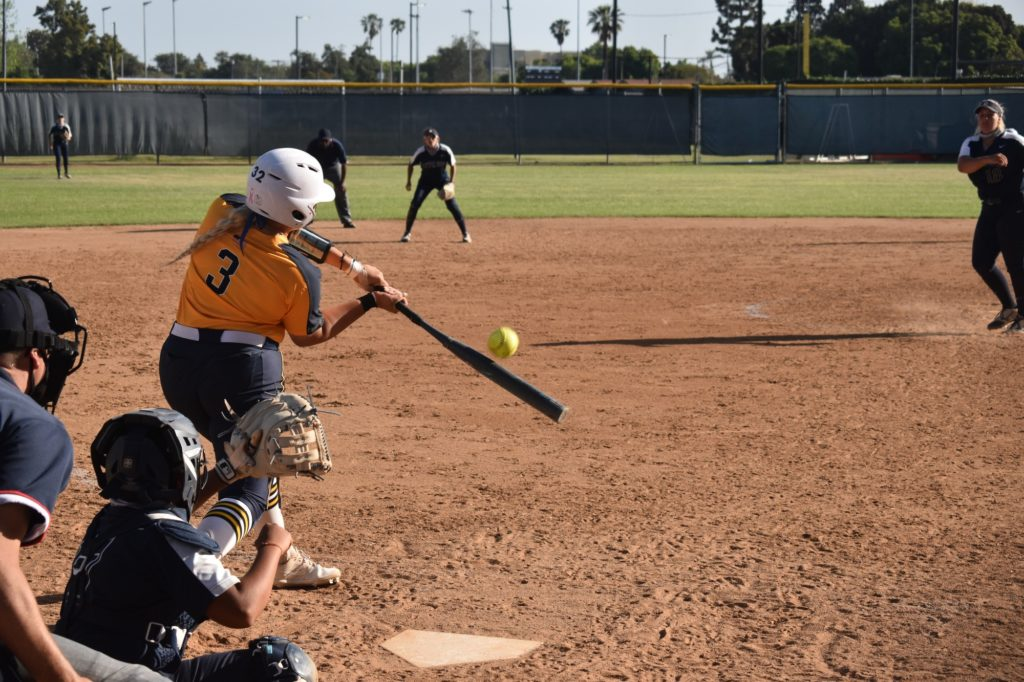 Madison Pevehouse had two hits on the day for the Hornets.
