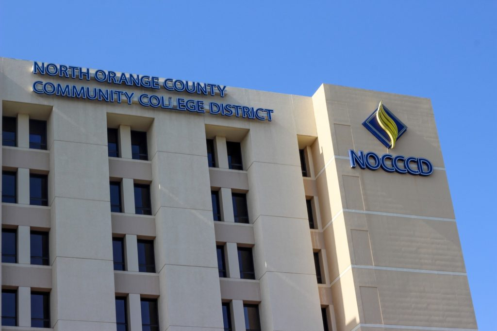 The NOCCCD office building located in Anaheim. Board meetings are usually held inside but due to the pandemic, they've been strictly virtual.