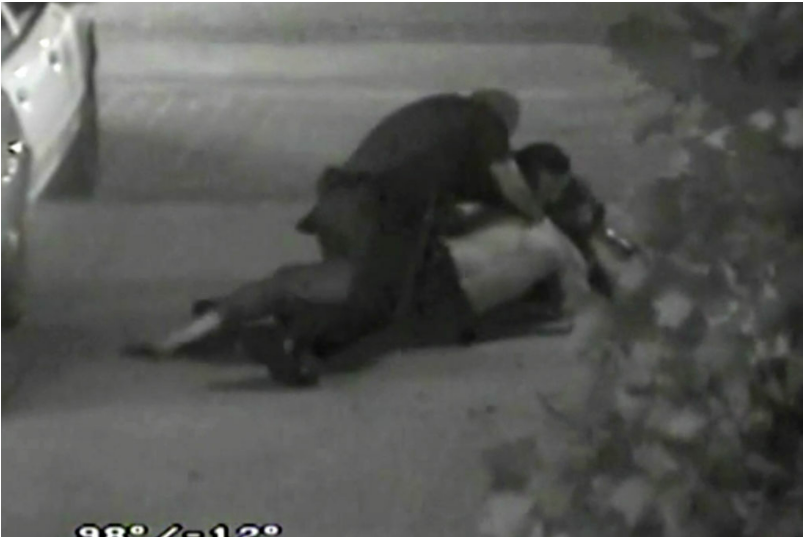 Security footage shows Fullerton police beating Kelly Thomas at the Fullerton bus depot.
