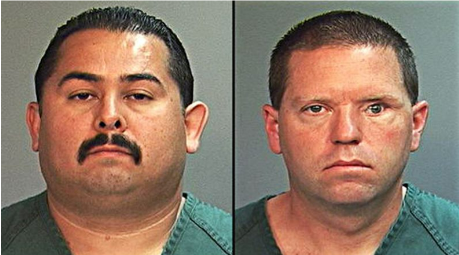 Former officer Manny Ramos (left) and Corporal Jay Cicinelli (right) were involved in the fatal beating of Kelly Thomas.