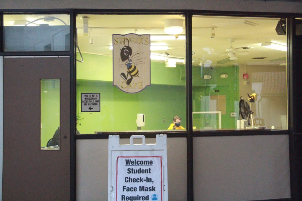 Students are required to do a daily check in at the Stinger's Cafe when entering campus.