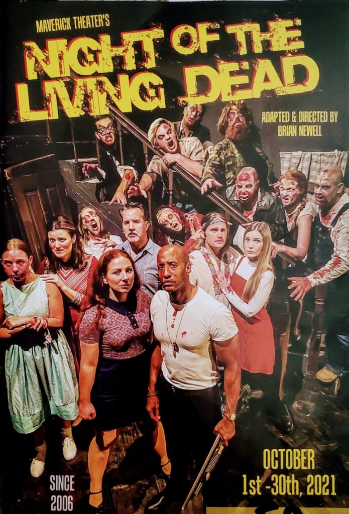 """""""Night of the Living Dead"""" pamphlet showing the cast. Photo credit: Ethan Ahoia"""